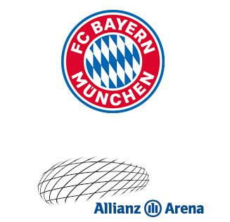 Logo FC Bayern München AG und Allianz Arena München Stadion GmbH