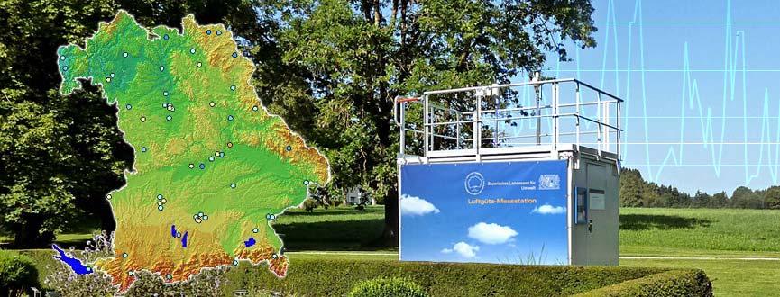 Seit 1974 betreibt das Umweltministerium das erste vollautomatische Luftgüte-Überwachungsmessnetz der Welt, das Lufthygienische Landesüberwachungssystem Bayern (LÜB) mit über 50 Messstationen; daneben sind Messfahrzeuge im Einsatz