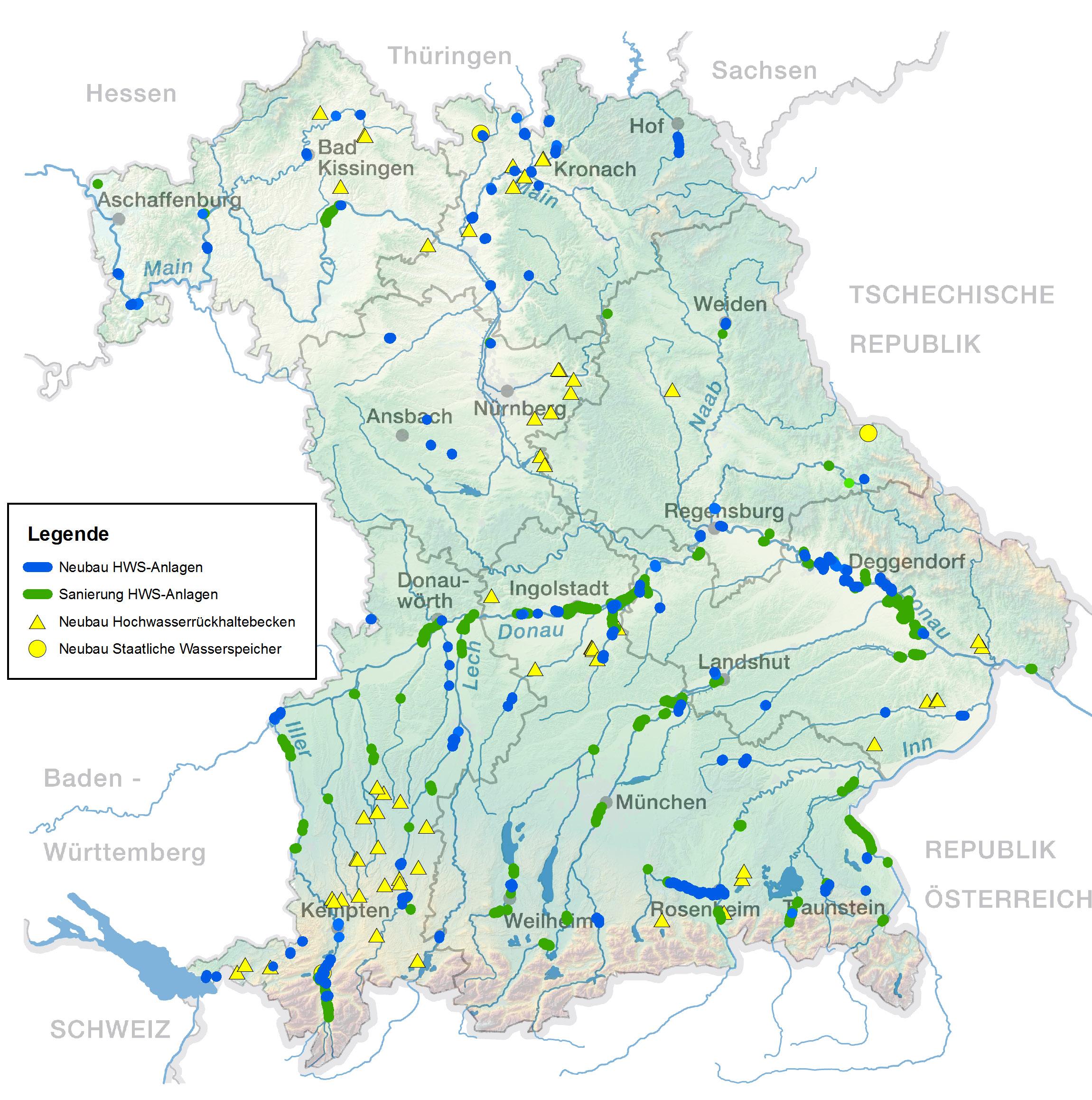 Projekte Hochwasserschutz In Bayern Aktionsprogramm 2020